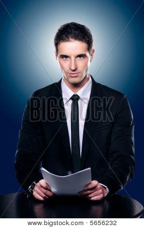 Handsome Newscaster