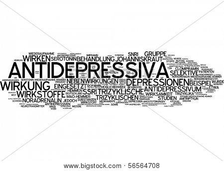 Nube de palabra - antidepresivos