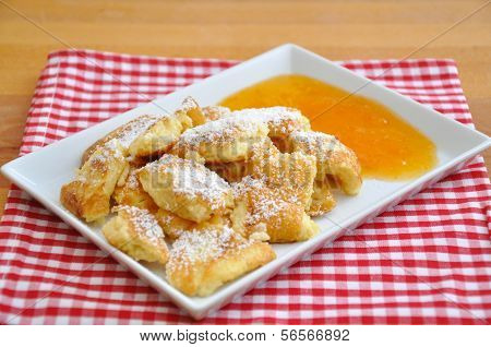 Kaiserschmarrn - German pancakes with applesauce