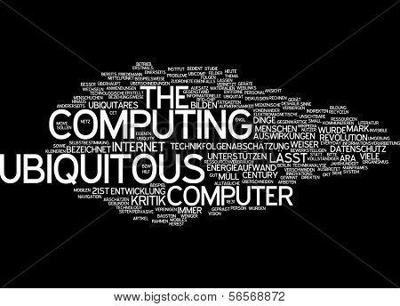 Word cloud - ubiquitous computing