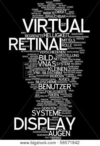 Word cloud - virtual retinal display