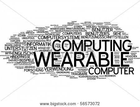 Word cloud - wearable computing