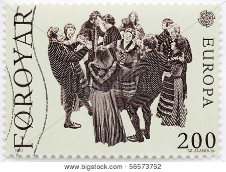 Faroese Dancers Stamp