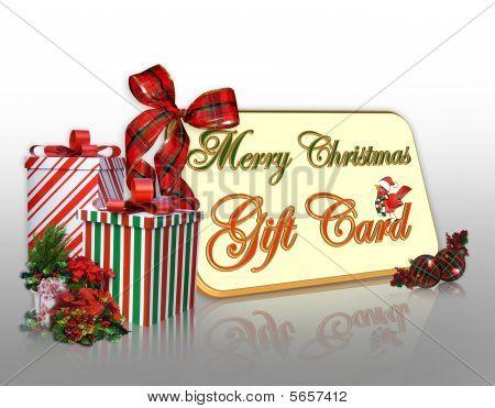 Merry Christmas Gift Card illustration