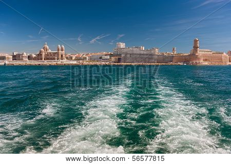 View Of The Vieux Port - Old Port Of Marseilles, France