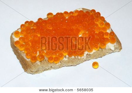 Raw and cured caviar