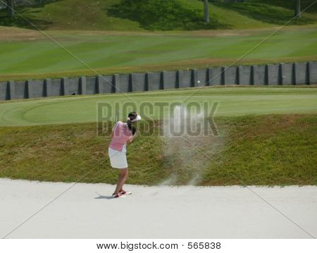 Lady Golfer Sand Wedge