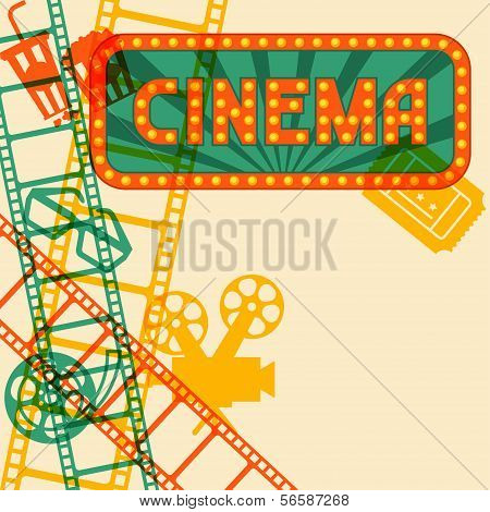 Movie and cinema retro background.