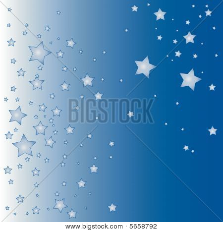 blue vector star background