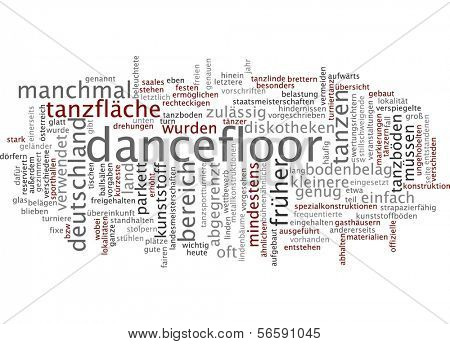 Word cloud - dancefloor