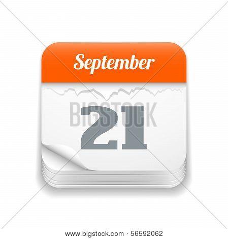 Tear-off calendar icon