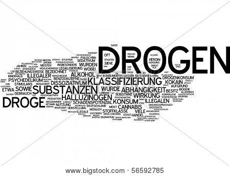 Word cloud - drugs