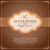 stock photo of dash  - Vintage Style Background Frame Invitation Template Vector - JPG