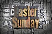 pic of salvation  - Easter Sunday written in vintage letterpress type - JPG