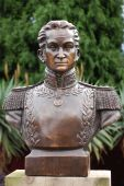 foto of bolivar  - Simon Bolivar (1783-1830). Remembered as the Founder of la Gran Colombia and Liberator of Colombia Ecuador Peru and Venezuela.