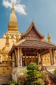 Pha That Luang In Vientiane City