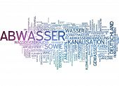 stock photo of wastewater  - Word cloud  - JPG