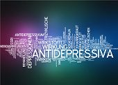 stock photo of antidepressant  - Word cloud  - JPG