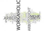 Word cloud - workaholic