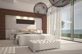 foto of flat-bed  - 3D rendering of bedroom - JPG