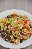 stock photo of quinoa  - Mexican Quinoa Salad with tomatoes - JPG