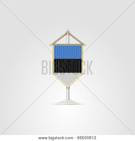 Illustration of national symbols of European countries. Estonia.