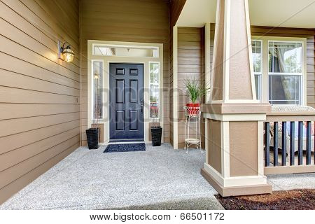 Entrance Porch With Columns