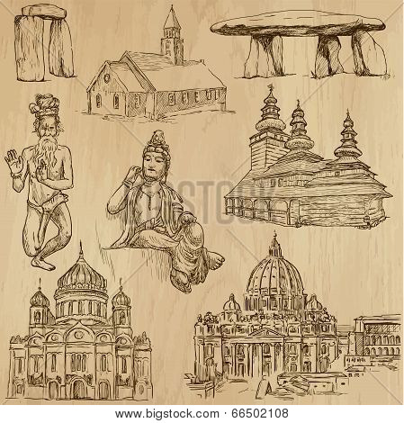 Religious No.2 - Vector Pack, Hand Drawings