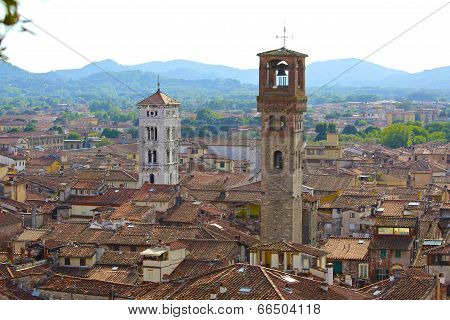 Lucca, Italy, Sky View