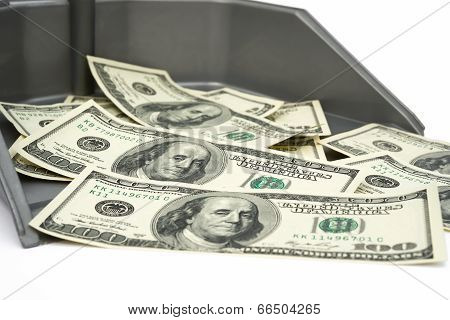 Usd In Trash Bin