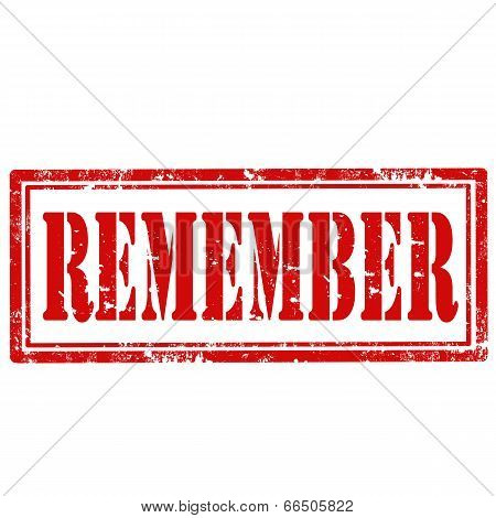 Remember-stamp
