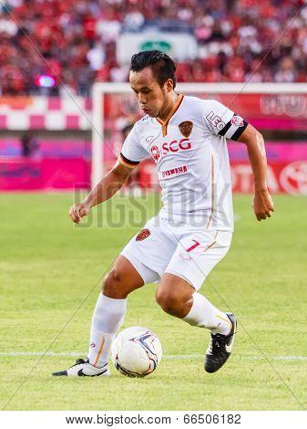 Sisaket Thailand-june 8: Datsakorn Thonglao Of Muangthong Utd. In Action During Thai Premier League