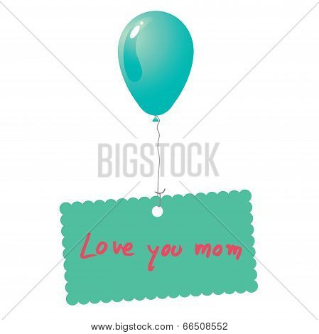 Love You Mom Card Vector.eps
