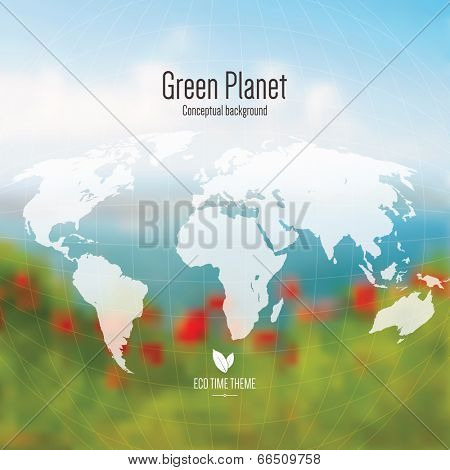 Eco time theme, conceptual background