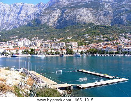 Water polo playground in Makarska