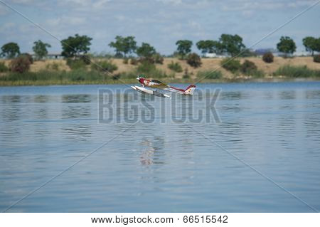Taking Off Over Guadiana River