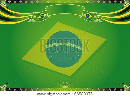 Horizontal strange brazil background. Nice horizontal background of Brazil. Use this background for a screen