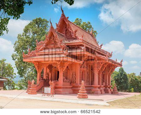 Wat Sila Ngu buddhist temple in Hua Thanon, Koh Samui, Thailand