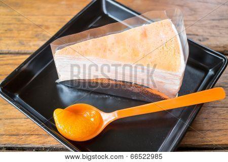 Whipped Cream Crepe Cake With Fresh Orange