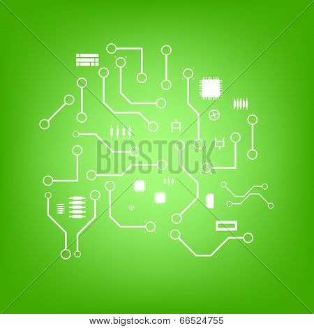 vector electronics background