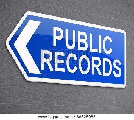 Public Records Concept.