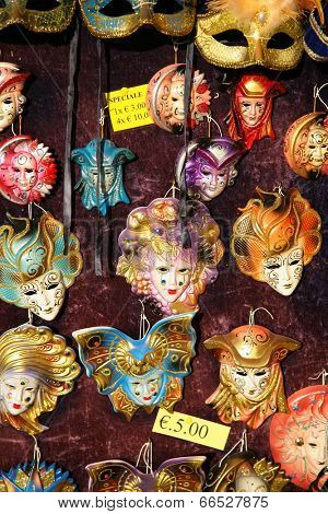 Masks on the street in Venice