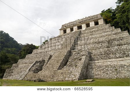 Mayan ruins in Palenque - Temple of Inscriptions, Mexico