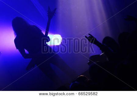 Guitarist during concert