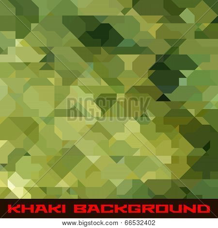 Khaki background with geometric stains