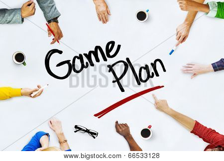 Group of Business People Discussing About Game Plan
