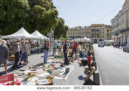 The Antique Market In Nice