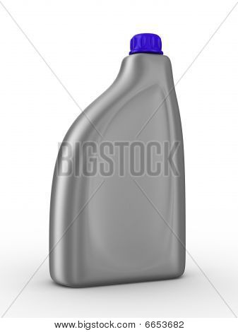 Lubricating Oil Bottle On White Background. Isolated 3D Image