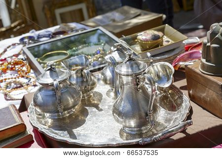 Old Silver Tableware For Sale In Nice, France