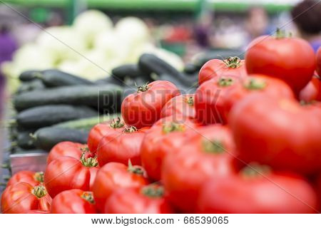 Fresh Vegetables On The Market